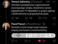 Sakiewicz sprowadzony na ziemię