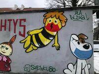 Pszczółka Maja wspiera strajk