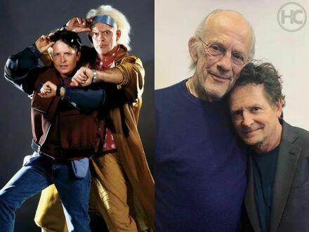 """Christopher Lloyd i Michael J. Fox spotkanie po 35 latach po """"Powrocie do przyszłości"""""""