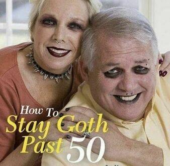 Poradnik jak zostać gothem po 50