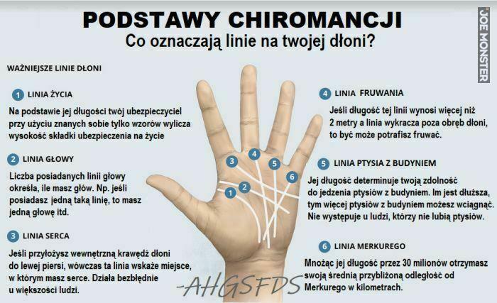 podstawy chiromancji co oznaczają linie na twojej dłoni