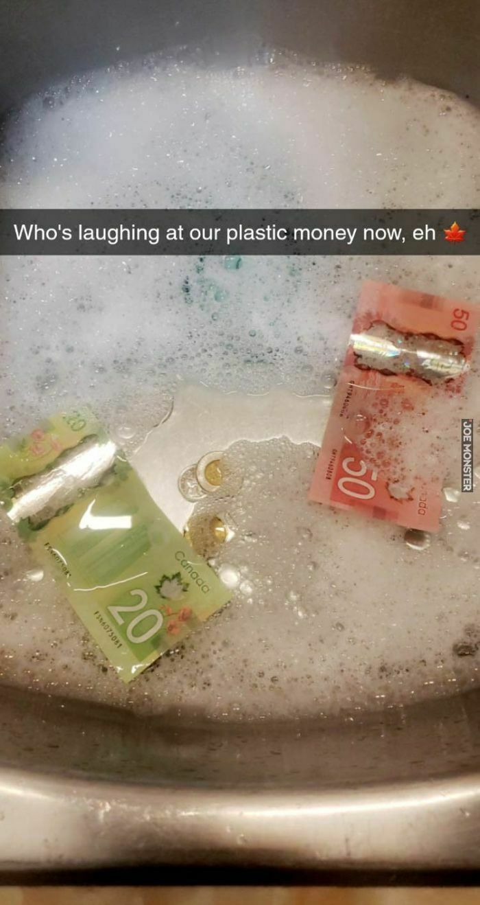 who's laughing at our plastic money now