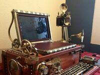 Komputer w stylu vintage