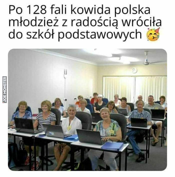 po 128 fali kowida polska młodzież