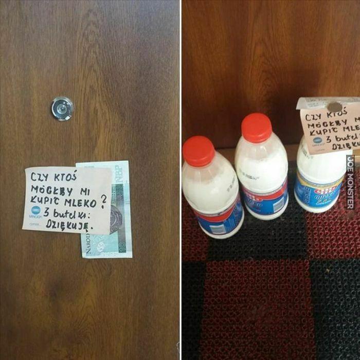 czy ktoś mógłby mi kupić mleko