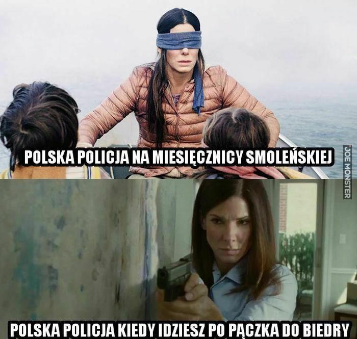 polska policja na miesięcznicy smoleńskiej