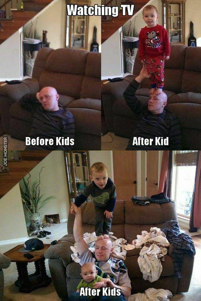 watching tv before kids