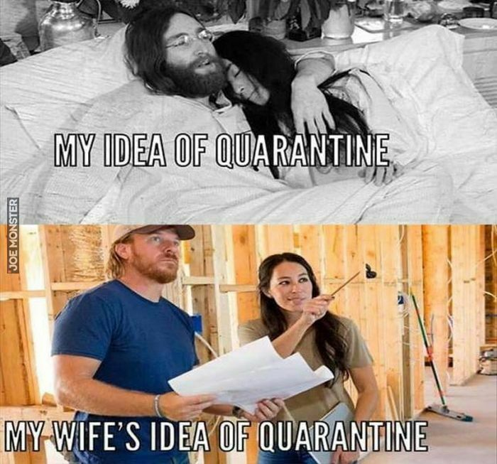 my idea of quarantine
