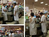 Wyrwali się na chwilę do sklepu