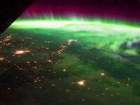 Widok na zorzę polarną z ISS