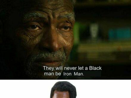 Nigdy nie pozwolą, aby czarny był Iron Manem