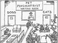 W poczekalni u zwierzaczkowego psychiatry