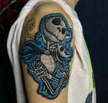 Oryginalny tatuaż, któy wygląda jak naszywka