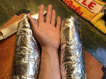 Konkretna porcja burrito