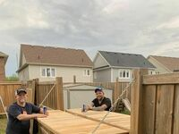 Ci sąsiedzi poprawili ogrodzenie, aby mogli delektować się piwem i dystansem społecznym