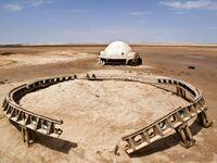 Opuszczony plan Gwiezdnych Wojen na Pustynii Tunezyjskiej