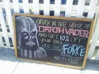 Zamów głosem Vadera i dostaniesz 10% zniżki! Użyj mocy a zamówienie dostaniesz za darmo!