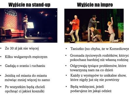 Impro kontra stand up