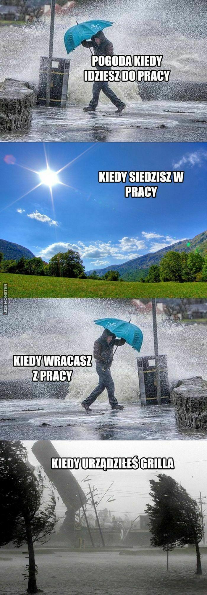 pogoda kiedy idziesz do pracy