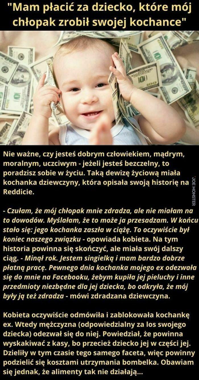 mam płacić za dziecko które mój chłopak