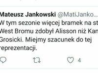 Alisson to bramkarz Liverpoolu, a Grosicki to koleś, który nie pojedzie na Mistrzostwa Europy
