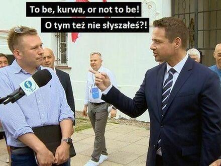 Chcieli sprawdzić, czy Trzaskowski zna angielski