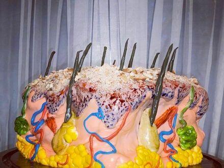 Ciasto-skóra zrobione dla dermatologa