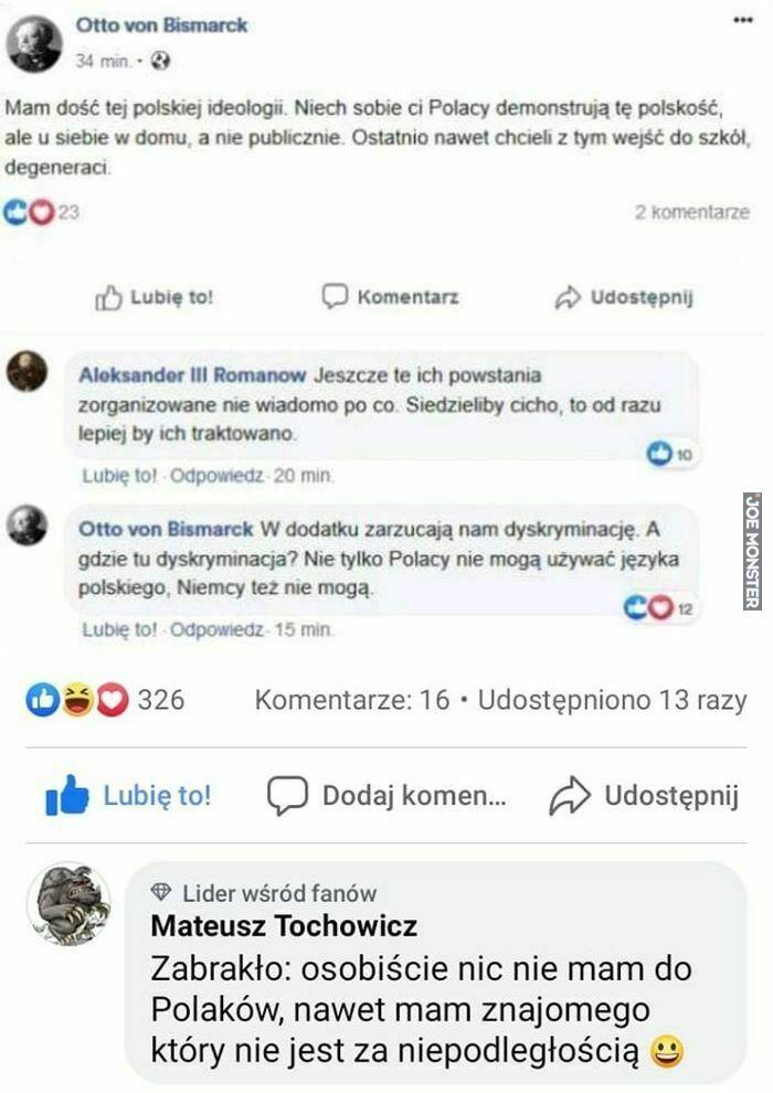 mam dość tej polskiej ideologii
