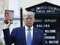 Trump jednak popiera protestantów