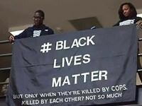 BLM, ale tylko kiedy zabija ich policjant, a nie kiedy sami się masowo wybijają