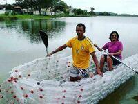 Łódka z recyklingu