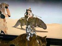 Odtworzył scenę z Gwiezdnych Wojen