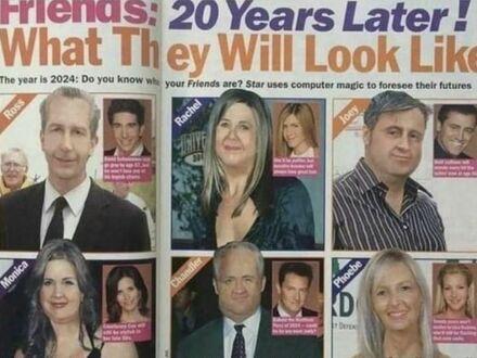 Magazyn z 2004 przewidywał jak będzie wyglądała obsada Przyjaciół w przyszłości