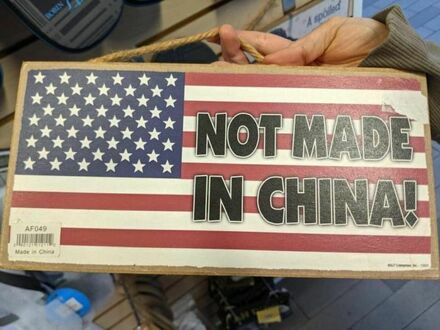 Nie zrobione w Chinach, ale zrobione