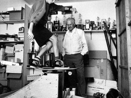 Tony Hawk i jego ojciec Frank Hawk, 1987