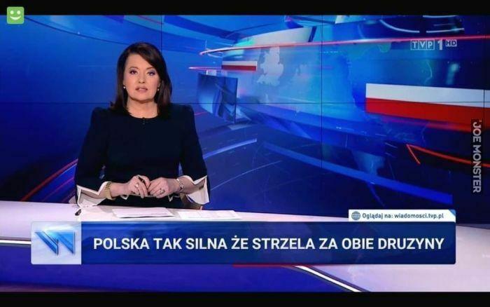 polska tak silna że strzela ze obie