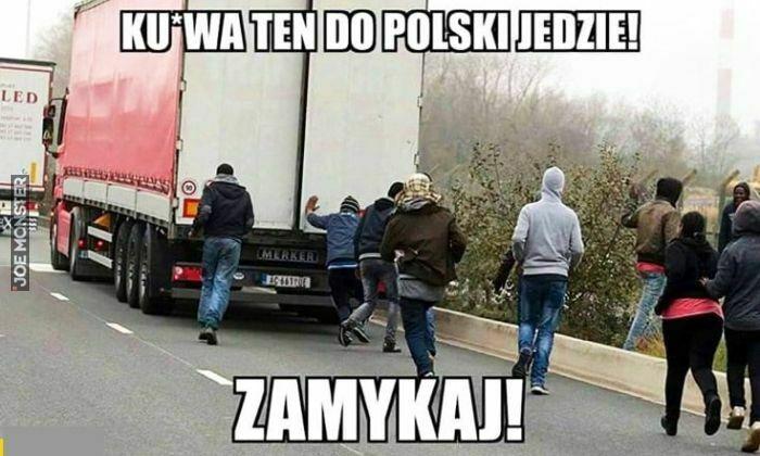 kurwa ten do polski jedzie