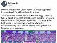 Orban mocno o klękaniu na murawie