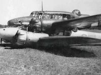Dwa samoloty zderzyły się w powietrzu, ale udało im się tak wylądować, obaj piloci przeżyli, rok 1940
