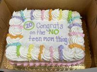 Gratulacje z powodu nie zostania nastoletnią matką