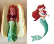Hot-dog inspirowany Małą Syrenką