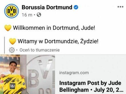 Jude Bellingham piłkarzem Borussi Dortmund