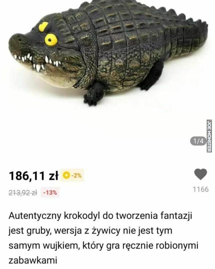 autentyczny krokodyl do tworzenia fantazji