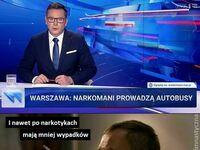 W Warszawie znowu wypadek spowodował kierowca autobusu. Na trzeźwo, ale zażywał parę dni wcześniej