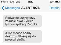 Alerty RCB schodzą na psy