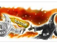 Przekazanie pałeczki między Ku Klux Klan a Black Lives Matter
