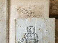 Rysunek robota znaleziony w książce od chemii z 1918