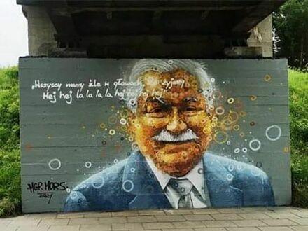 Mural Kaczyńskiego zniknął, a na jego miejscu pojawił się OTUA