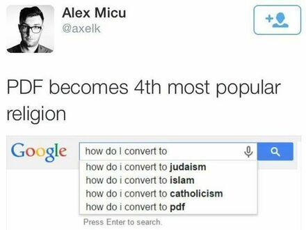 PDF jest 4. najpopularniejszą religią