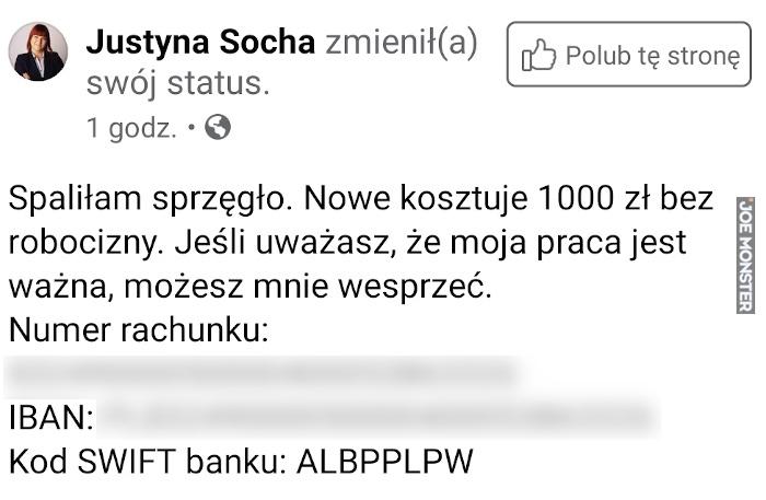 Spaliłam sprzęgło nowe kosztuje 1000 zł bez robocizny